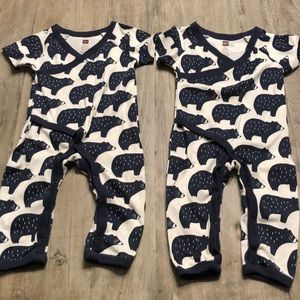 Tea collection baby boys bear romper